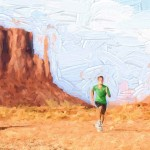 Runner with Desert Landscape