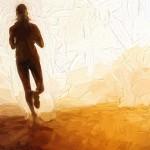 Runner on Road at Sunrise