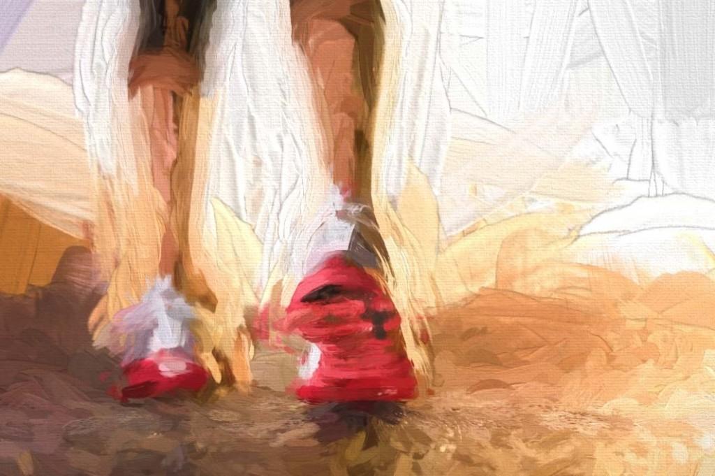 Runner's Shoes on Street